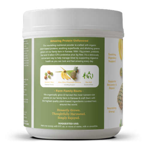 Amazing Grass Amazing Protein Digest Unflavored Dietary Supplement Powder Perspective: left