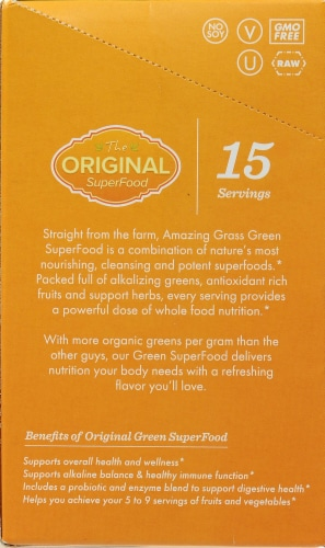 Amazing Grass Green Superfood Powder Perspective: left