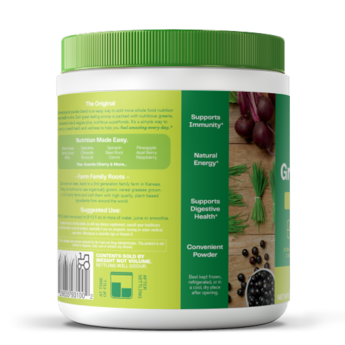 Amazing Grass Green Superfood Original Whole Food Dietary Supplement Powder Perspective: left