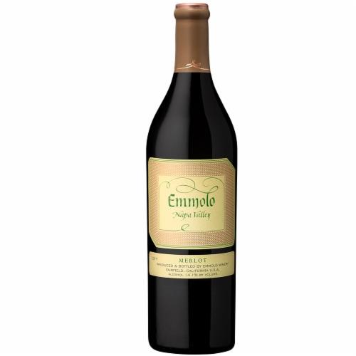 Emmolo Wines Napa Valley Merlot Red Wine Perspective: left