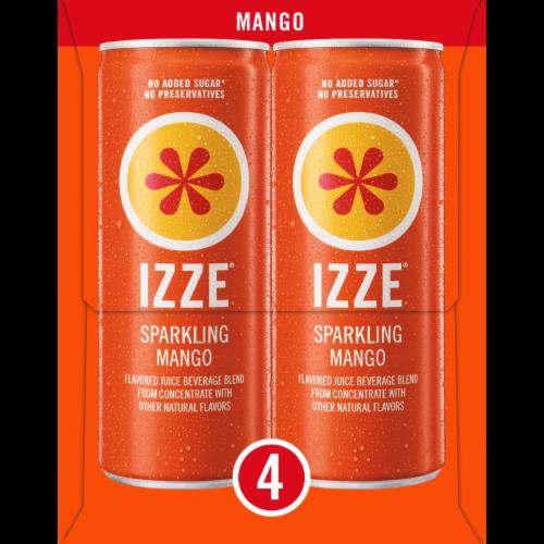 Izze Mango Flavored Sparkling Juice Beverage Perspective: left