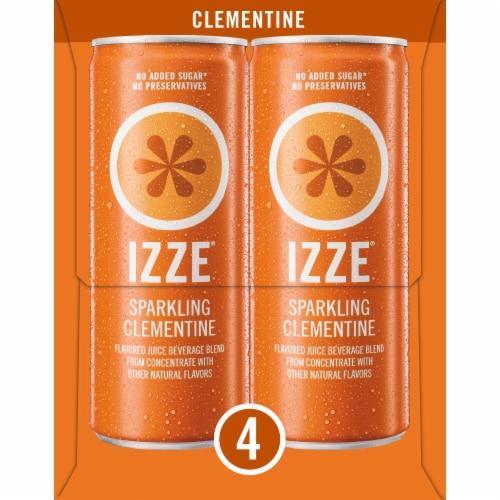 IZZE Sparkling Juice Beverage Clementine Flavored Juice Drink Perspective: left