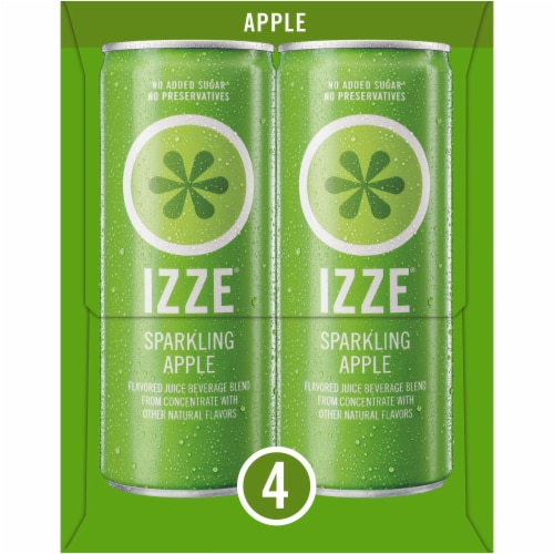 IZZE Sparkling Juice Apple Flavored Juice Drink Perspective: left