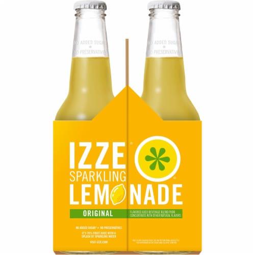 IZZE Sparkling Juice Lemon Flavored Juice Drink 4 Count Perspective: left