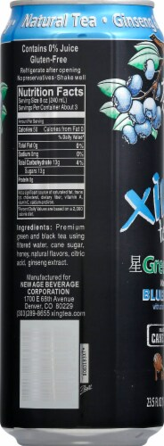 Xing Green Tea with Blueberry & Honey Perspective: left
