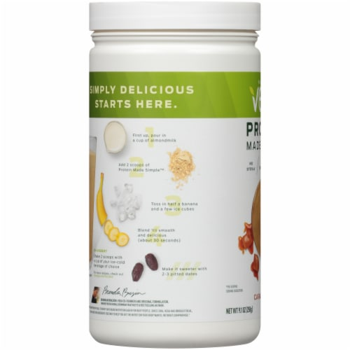 Vega Protein Made Simple Caramel Toffee Drink Mix Perspective: left