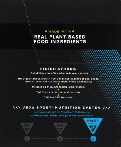 Vega Sport Chocolate Performance Protein Drink Mix Perspective: left
