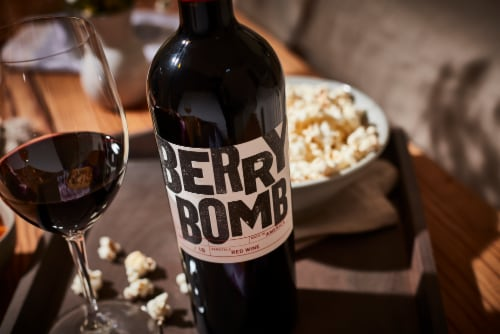 Berry Bomb Red Blend Wine Perspective: left