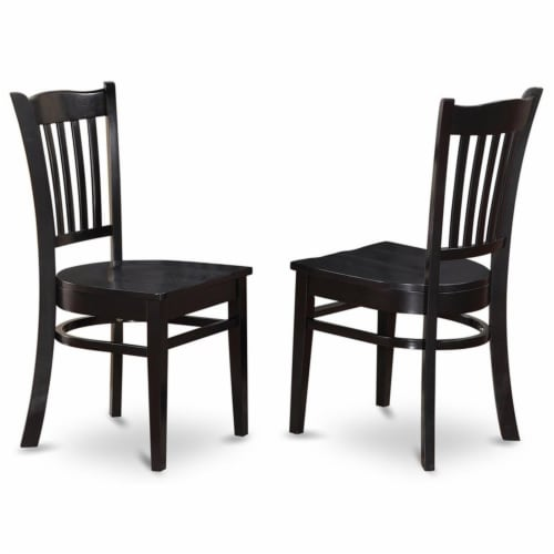 DUGR5-BLK-W 5 Pc Dining room set - Dinette Table and 4 Kitchen Dining Chairs Perspective: left
