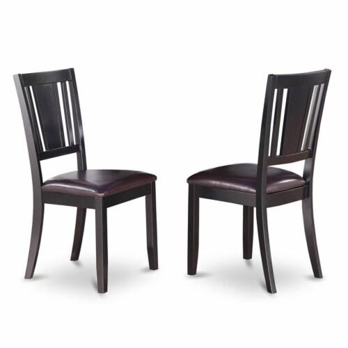 East West Furniture Weston 6-piece Wood Dinette Table Set in Black Perspective: left