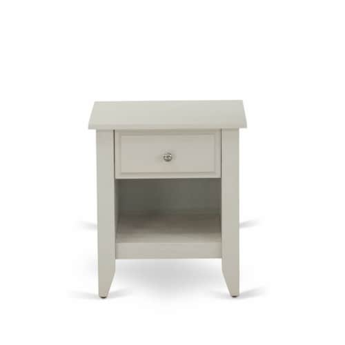 East West Furniture 3-piece Wood King Bedroom Set in Dark Khaki Brown Perspective: left