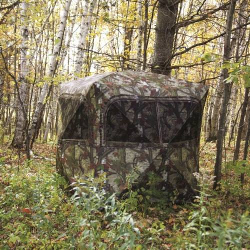 Barronett Grounder 350 Bloodtrail Camo Pop Up Ground Hunting Blind (2 Pack) Perspective: left