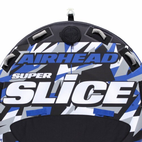 Airhead Super Slice Inflatable Triple Rider Towable Tube Water Raft (2 Pack) Perspective: left