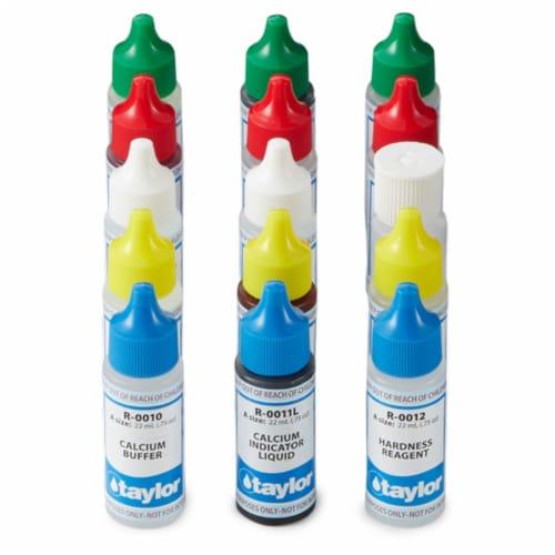 Taylor K2005 Swimming Pool Chlorine Bromine Alkalinity Hardness pH DP Test Kit Perspective: left
