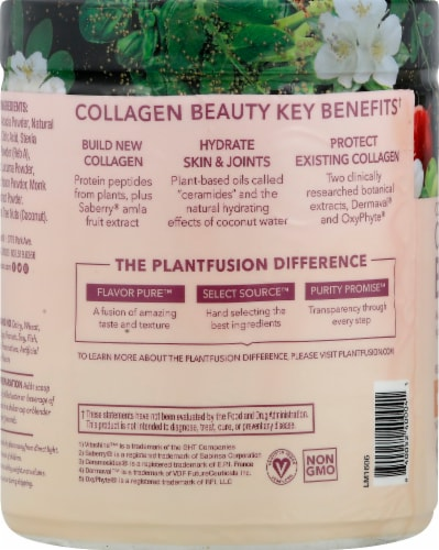 PlantFusion Peach Mango Complete Collagen Supplement Perspective: left