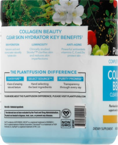 PlantFusion Collagen Beauty Clear Skin Hydrator Citrus Perspective: left