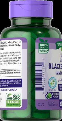 Nature's Truth Immune Complex Elderberry + Vitamin C Chewable Tablets Perspective: left