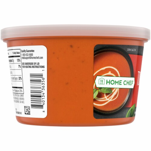 Home Chef Creamy Tomato Bisque Soup Perspective: left