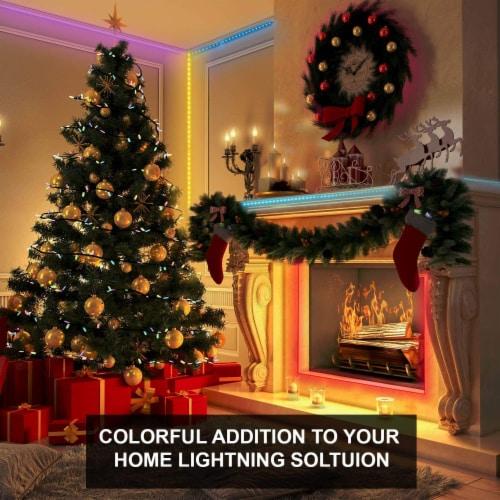 WBM Smart RGB LED Strip Lights, App Controlled for Home & Outdoor Decoration | 16 ft /1 Strip Perspective: left