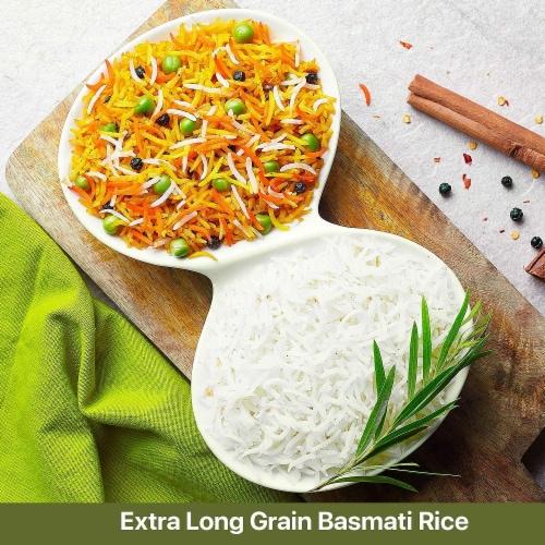 Himalayan Chef Basmati Rice, Fluffy & Long-Grain, Standup & Resealable Bag | 2 lbs - Pack 2 Perspective: left
