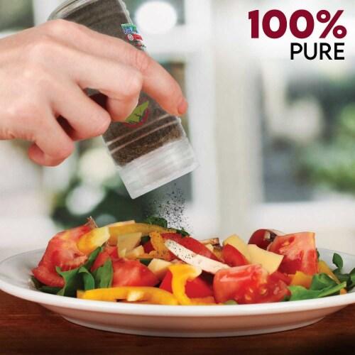 Himalayan Chef Salt & Pepper, Fine Salt, Black Pepper Glass Shaker, Kosher & Vegan – Set of 2 Perspective: left