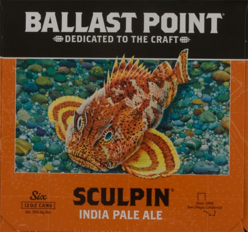 Ballast Point Sculpin India Pale Ale Beer Perspective: left