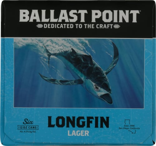 Ballast Point Longfin Lager Beer Perspective: left