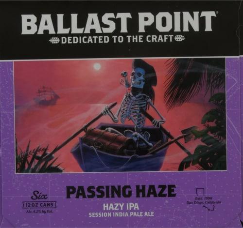 Ballast Point Passing Haze Hazy IPA Beer Perspective: left