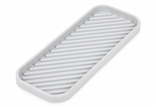 Core Kitchen Silicone Sink Tray - Gray Perspective: left