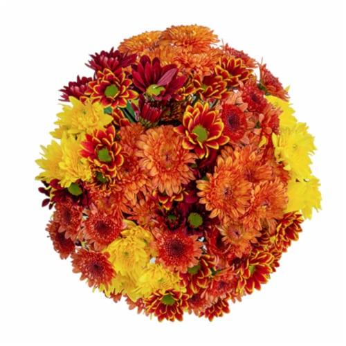 Fall Poms Bouquet Perspective: left