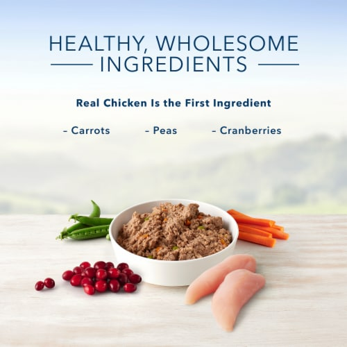 Blue Buffalo Homestyle Recipes Healthy Weight Chicken with Garden Vegetables Wet Dog Food Perspective: left