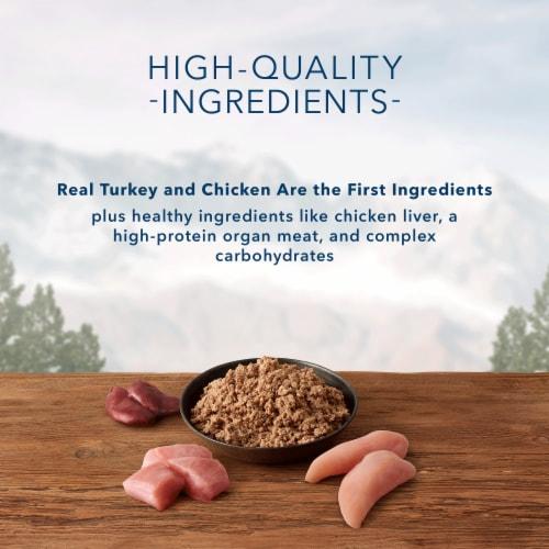 Blue Wilderness Turkey & Chicken Grill Wet Senior Dog Food Perspective: left