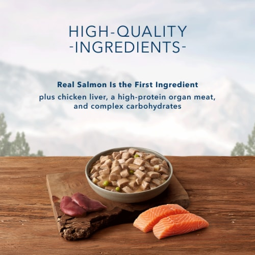 Blue Wilderness Wolf Creek Stew with Salmon Wet Dog Food Perspective: left