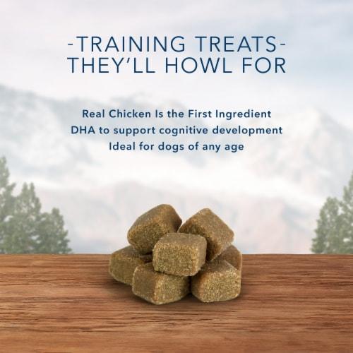 Blue Wilderness Trail Treats Chicken Wild Bits Dog Treats Perspective: left