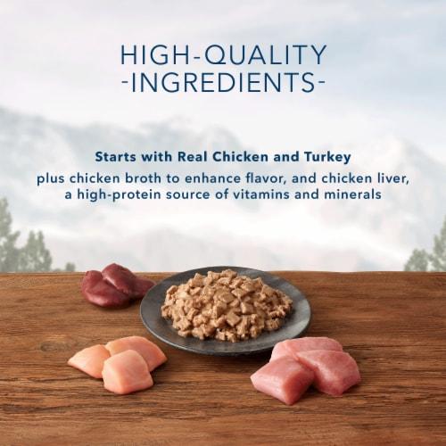 Blue Buffalo Wilderness Wild Delights Flaked Chicken & Turkey Wet Cat Food Perspective: left