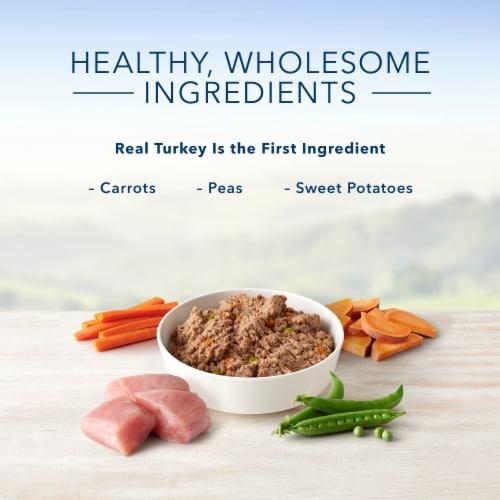 Blue Buffalo Turkey Meatloaf Dinner Homestyle Recipe Natural Dog Food Perspective: left