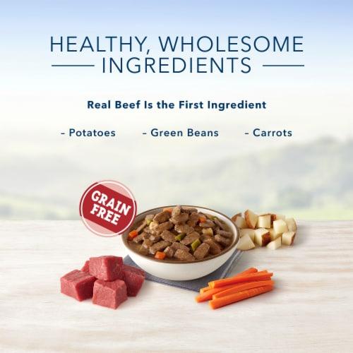 Blue Buffalo Family Favorite Recipes Backyard BBQ Dinner Wet Dog Food Perspective: left