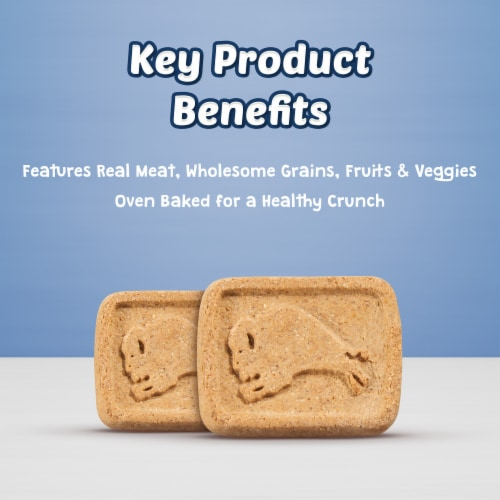 Blue Buffalo Health Bars Bacon Egg & Cheese Natural Dog Biscuits Perspective: left