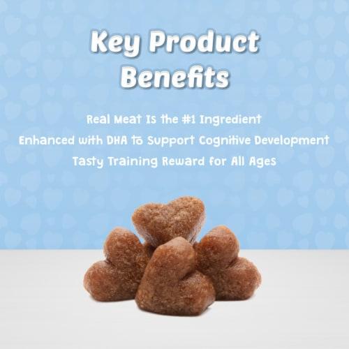 Blue Buffalo Blue Bits Tasty Chicken Recipe Soft-Moist Training Treats Perspective: left