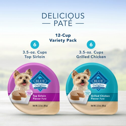 Blue Buffalo Divine Delights Top Sirloin & Grilled Chicken Wet Dog Food Variety Pack Perspective: left