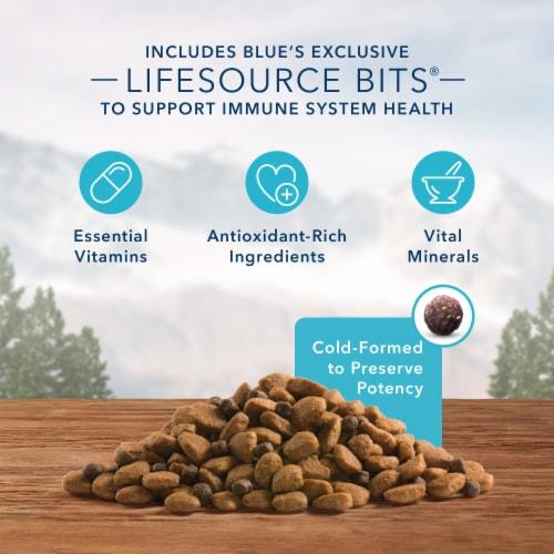 Blue Wilderness High Protein Chicken Natural Senior Dry Dog Food Perspective: left