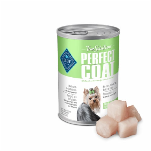 Blue Buffalo True Solutions Perfect Coat Natural Wet Dog Food Perspective: left