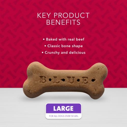 Blue Buffalo Beef Large Dog Biscuit Bones Perspective: left
