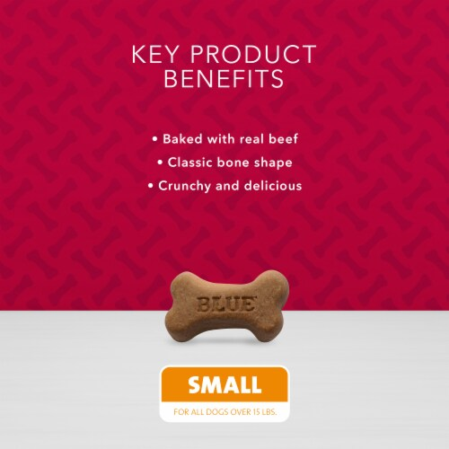 Blue Buffalo Bones Beef Small Dog Biscuits Perspective: left