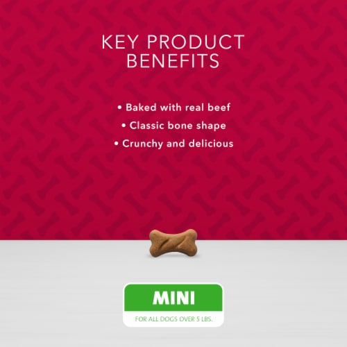 Blue Buffalo Bones Beef Flavored Mini Dog Biscuits Perspective: left