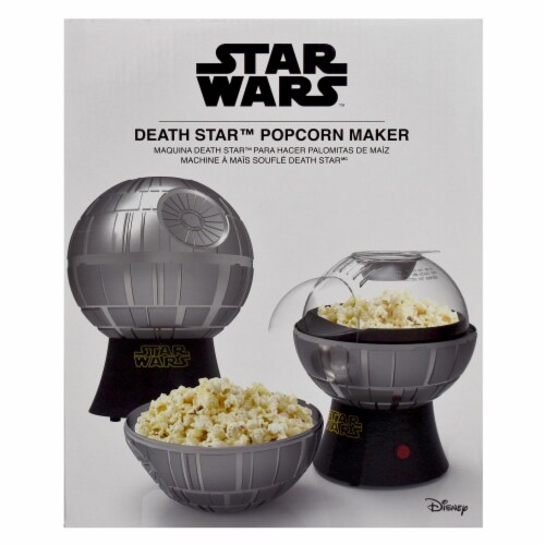 Star Wars Death Star Hot Air Style Popcorn Maker with Removable Bowl Perspective: left