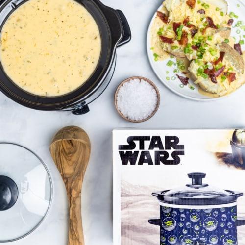 Uncanny Brands Star Wars The Mandalorian 2-Quart Slow Cooker- Kitchen Appliance-Baby Yoda Perspective: left