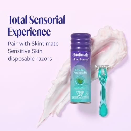 Skintimate Skin Therapy Sensitive Skin Vitamin E Lotionized Shave Gel Perspective: left