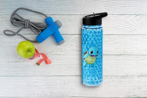 Pokemon Squirtle 16oz Water Bottle - BPA-Free Reusable Drinking Bottles Perspective: left