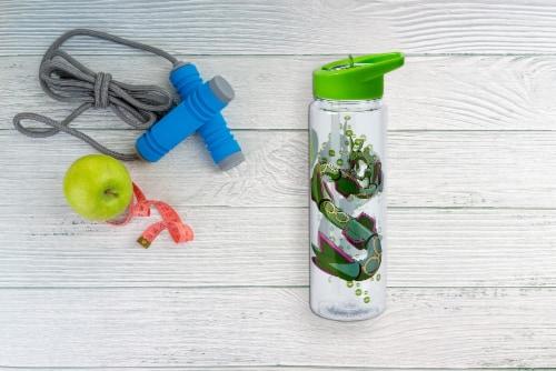 Pokemon Rayquaza 16oz Water Bottle - BPA-Free Reusable Drinking Bottles Perspective: left